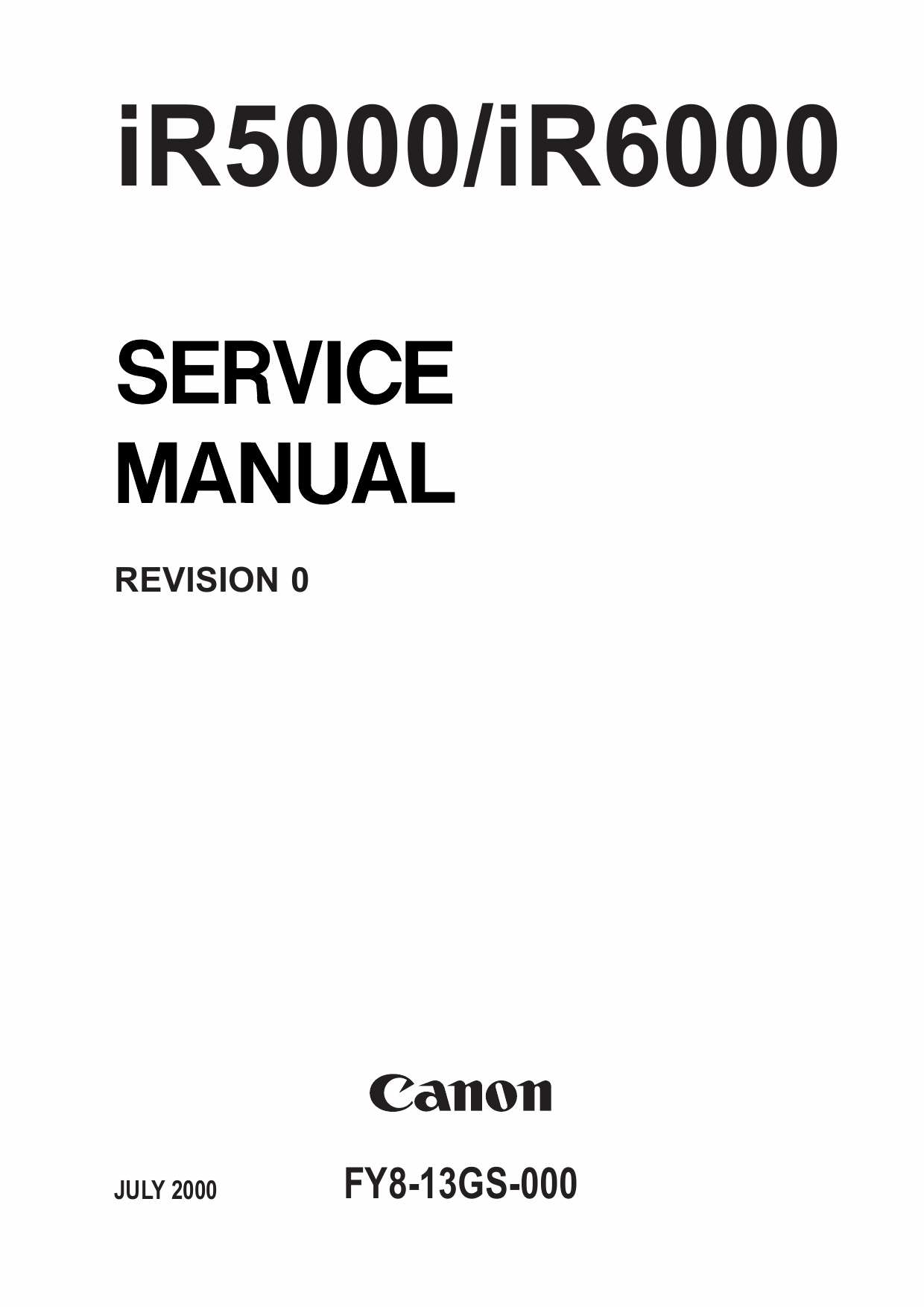 Canon imageRUNNER iR-5000 6000 Parts and Service Manual-1